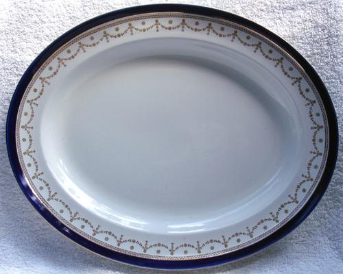 "ALFRED MEAKIN #1867 ""Bleu De Roi"" English Chinaware -  11.75"" Serving Platter"