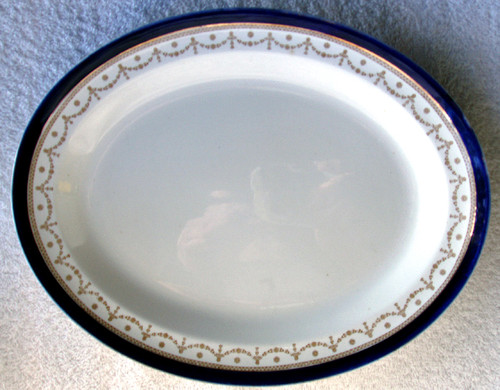 "ALFRED MEAKIN #1867 ""Bleu De Roi"" English Chinaware -  11.25"" Serving Platter"