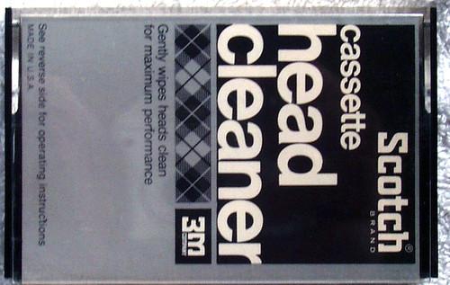 ACCESSORY - SCOTCH Cassette Tape Head Cleaner Cassette