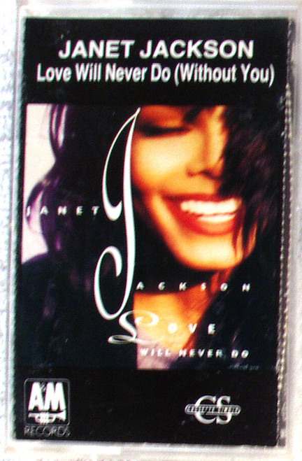 RnB Swing - JANET JACKSON Love Will Never Do (Without You) Cassette Single 1990