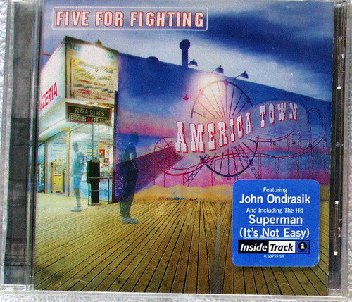 Alternative Rock  - FIVE FOR FIGHTING America Town CD 2000