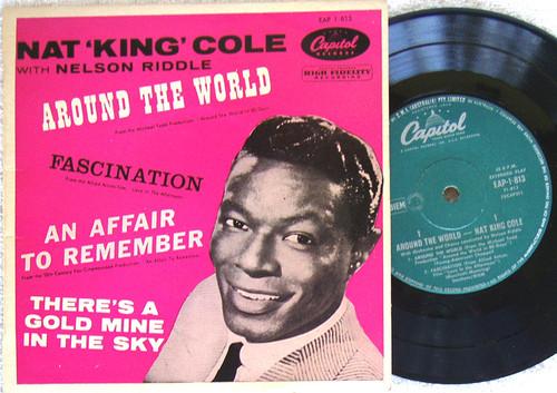 "Film Soundtrack Pop - NAT KING COLE Around The World 7"" EP Vinyl 1957"