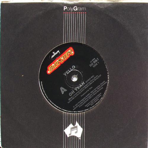 "Dub Synth Pop - YELLO Oh Yeah (Dance Mix)  7"" Vinyl 1985"