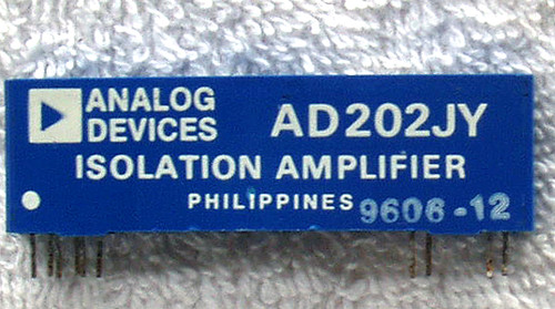Integrated Circuit ANALOG DEVICES AD202JY (SIP) Isolation Amplifier