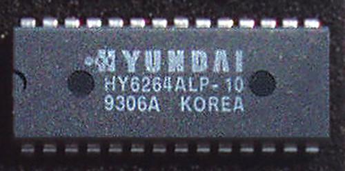 Integrated Circuit STATIC RAM HYUNDAI 64K (CMOS 64K 8x8 100nS) New Old Stock