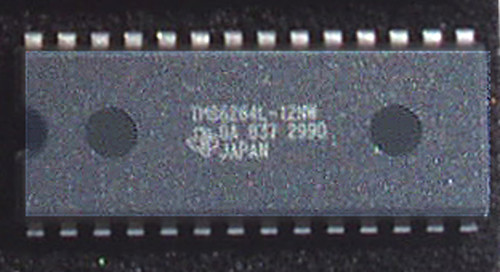 Integrated Circuit STATIC RAM TEXAS INSTRUMENTS 64K (CMOS 64K 8x8 120nS) New Old Stock