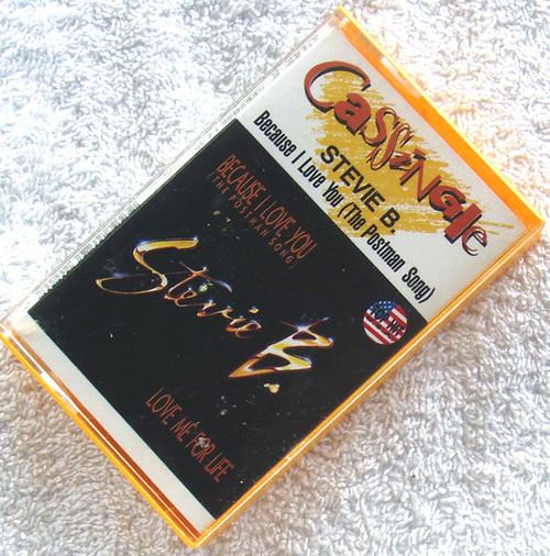 Pop Ballad - STEVIE B Because I Love You (The Postman Song) Cassette Single 1991