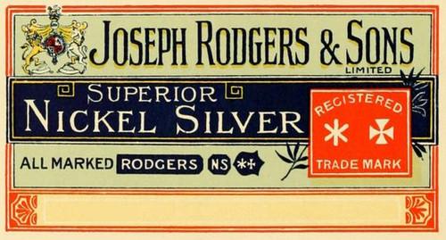 1800's JOSEPH RODGERS Nickel Silver Soup Ladle