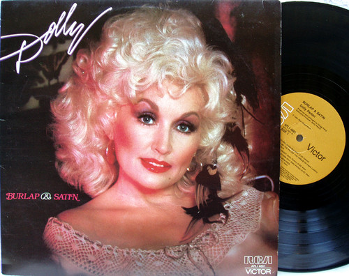 Country Rock - DOLLY PARTON Burlap & Satin Vinyl 1983