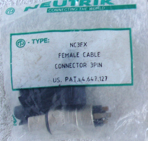 NEUTRIK 3 Pin XLR Female Cable Connector NEW OLD STOCK