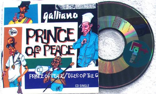 Downtemp Jazz - GALLIANO Prince Of Peace CD Single (Card Sleeve) 1992