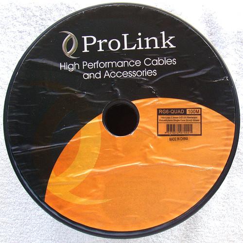 High Quality PROLINK RG6 Quad Coax (Brand New Roll 100m)