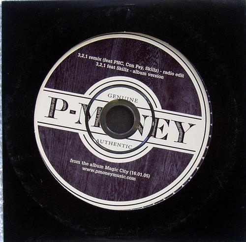 Hip Hop - P-MONEY 3,2,1 Remix CD Promotional (Card Sleeve) 2005