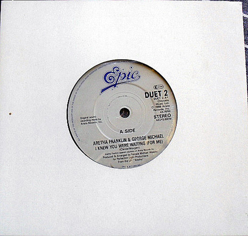 "7"" 1986 Aretha Franklin/George Michael - I Knew You Were Waiting For Me"