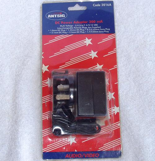 ANTSIG DC Power Adaptor Kit  (3 - 12V 300mA) Multiple Output Plugs