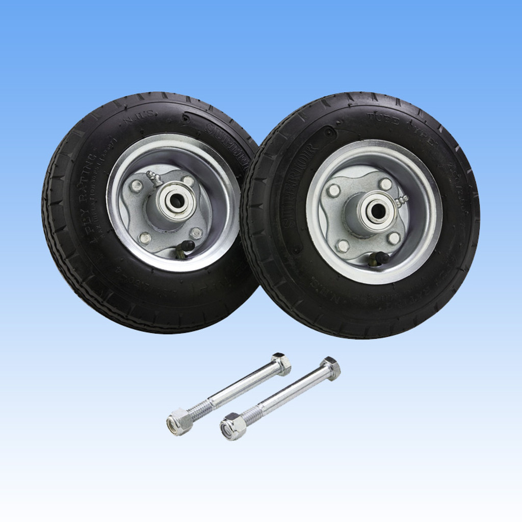 8″ No-Flat Solid Rubber Tire Kit