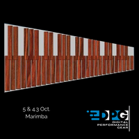 Marimba Practice Pad - 4.3 Octave