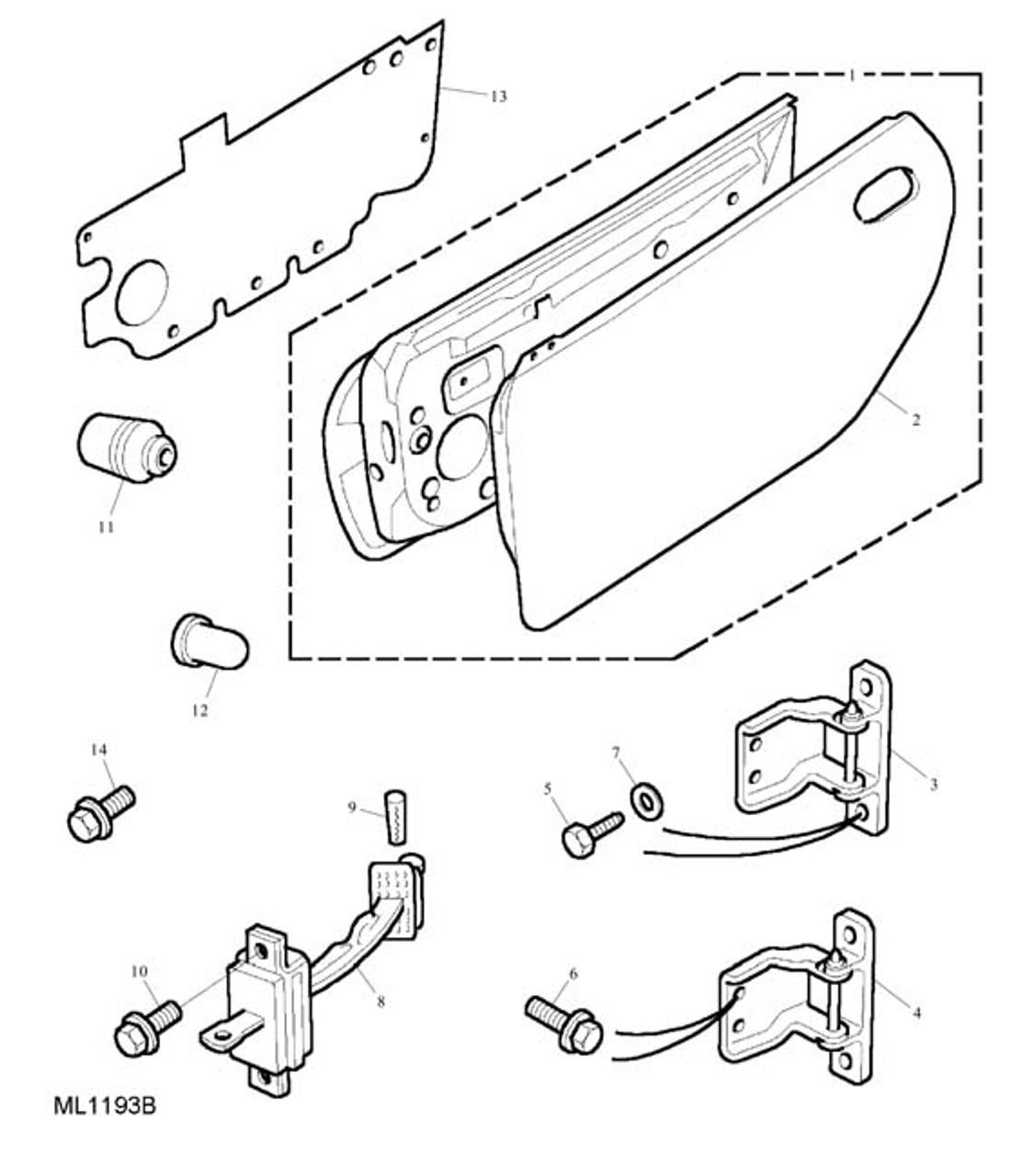 Check Strap Assembly - Front Door -U