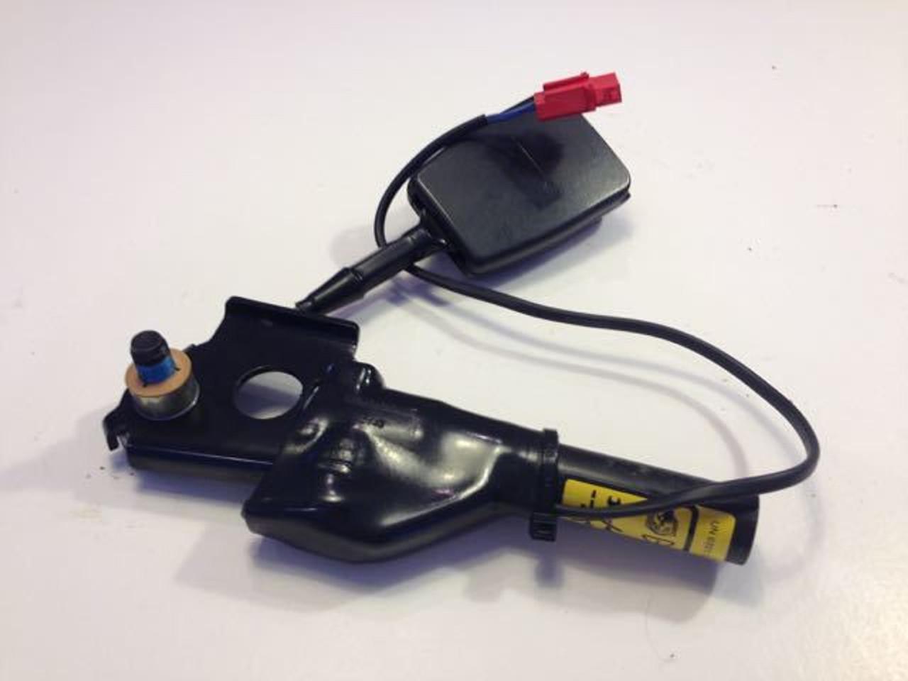 Seat Belt Asbly - Short End - Stalk & Pre-Tens - Ash Grey - LH - MGF. MG TF to VIN 4D620548 -U