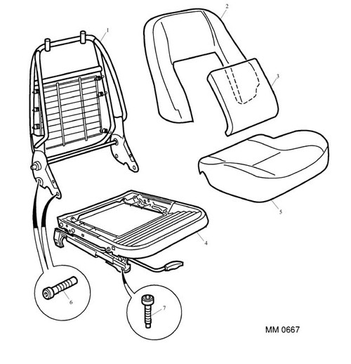 Screw - M10 x 35 - seat runner to floor -U