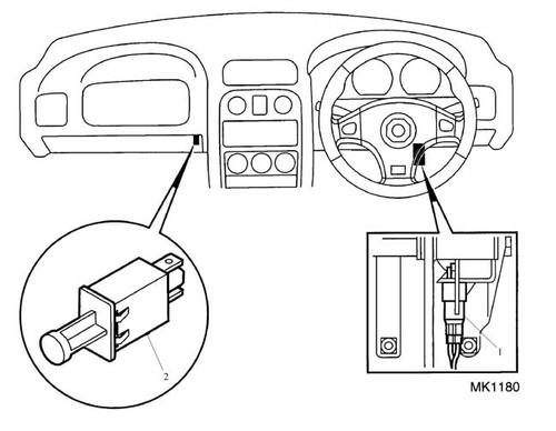 Switch - Stop Lamp - MGF VIN YD514326 on & MG TF -U