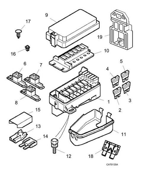 Cover - Fuse Box - Upper - MG TF from VIN 3D610318 on -U