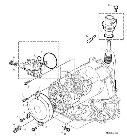 Screw - M6 x 20 - bearing cover -U