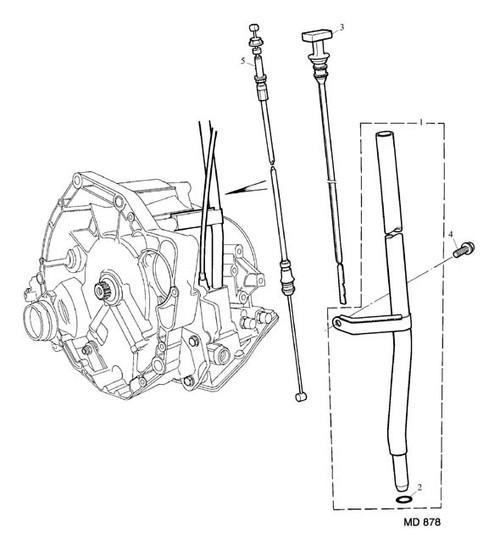 Screw - Flanged Head - M8 x 16 - dipstick tube -U
