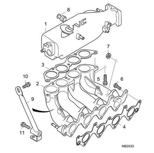 Bolt - Flanged Head - M10 x 50 strut to engine -U