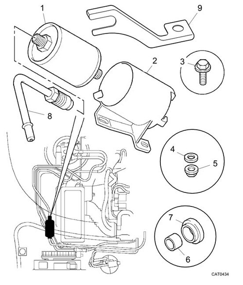 Adaptor Pipe - Filter to Fuel Pipe - VIN YD522573 on (2000 on) -U