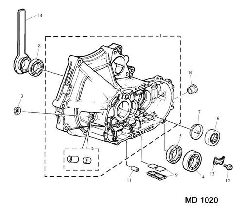 Screw - M6 x 16 Bearing retainer - nylon patch -U