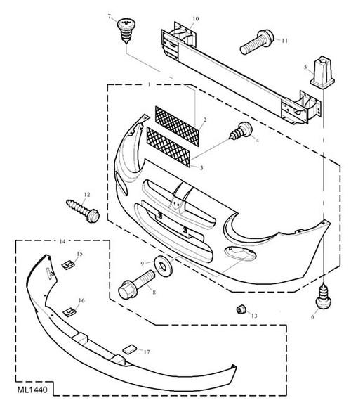 Screw - Self Tapping - bumper attaching - front -U