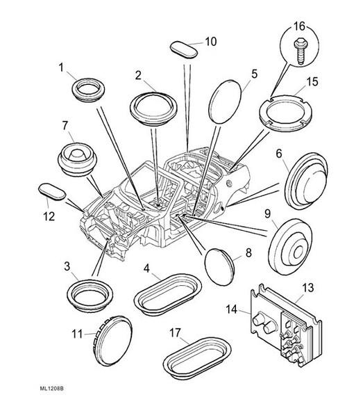 Boot lid plug - Rubber plug -U