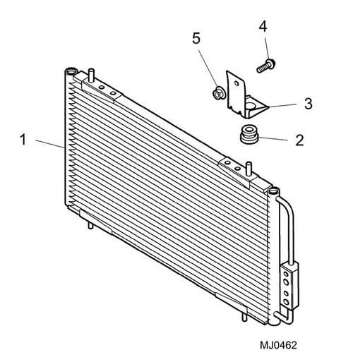 Mounting Rubber - Radiator - condenser -U