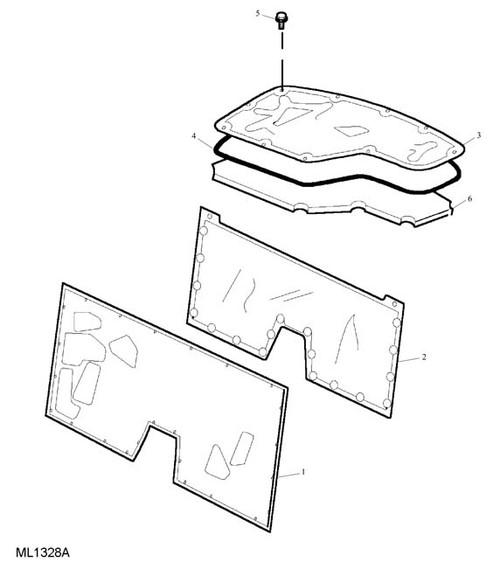 Screw - Flanged Head - M6 x 12 - hoodwell lid to body -U
