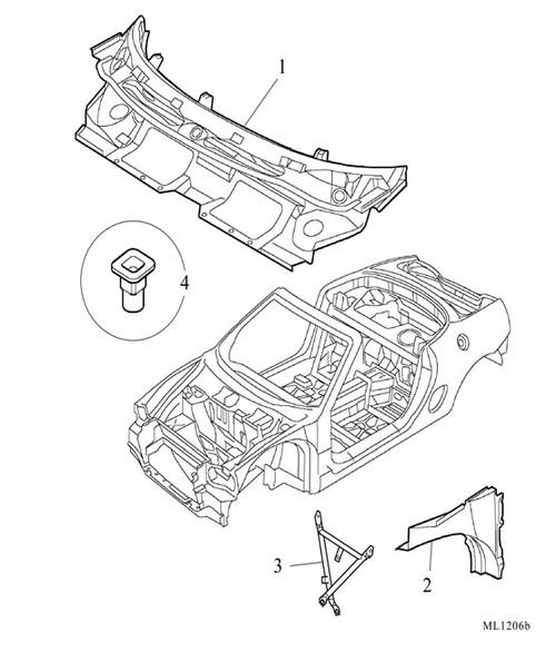 Cross strut - steering column/dash to floor