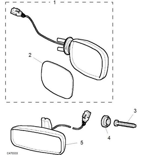 Interior Mirror wiring harness