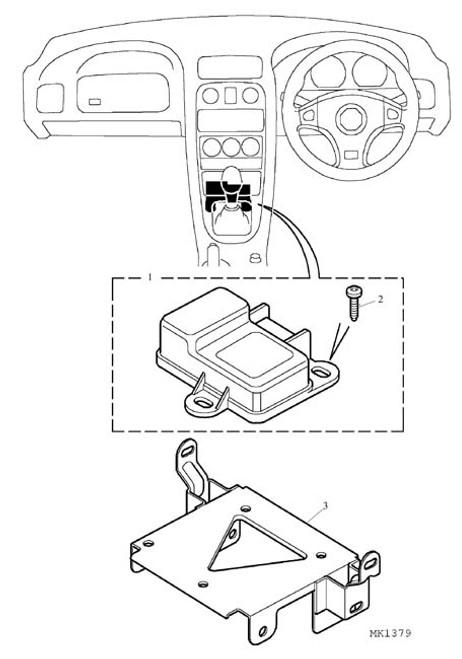 Screw-DCU to bracket & bracket to tunnel - MGF VIN AD021170 on & MG TF