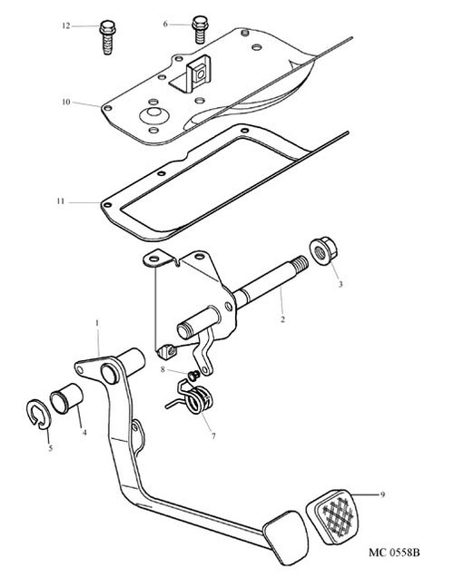 Clutch Pedal Assembly - RHD