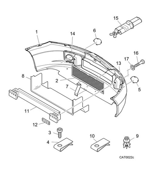 Plastic screws - bumper support
