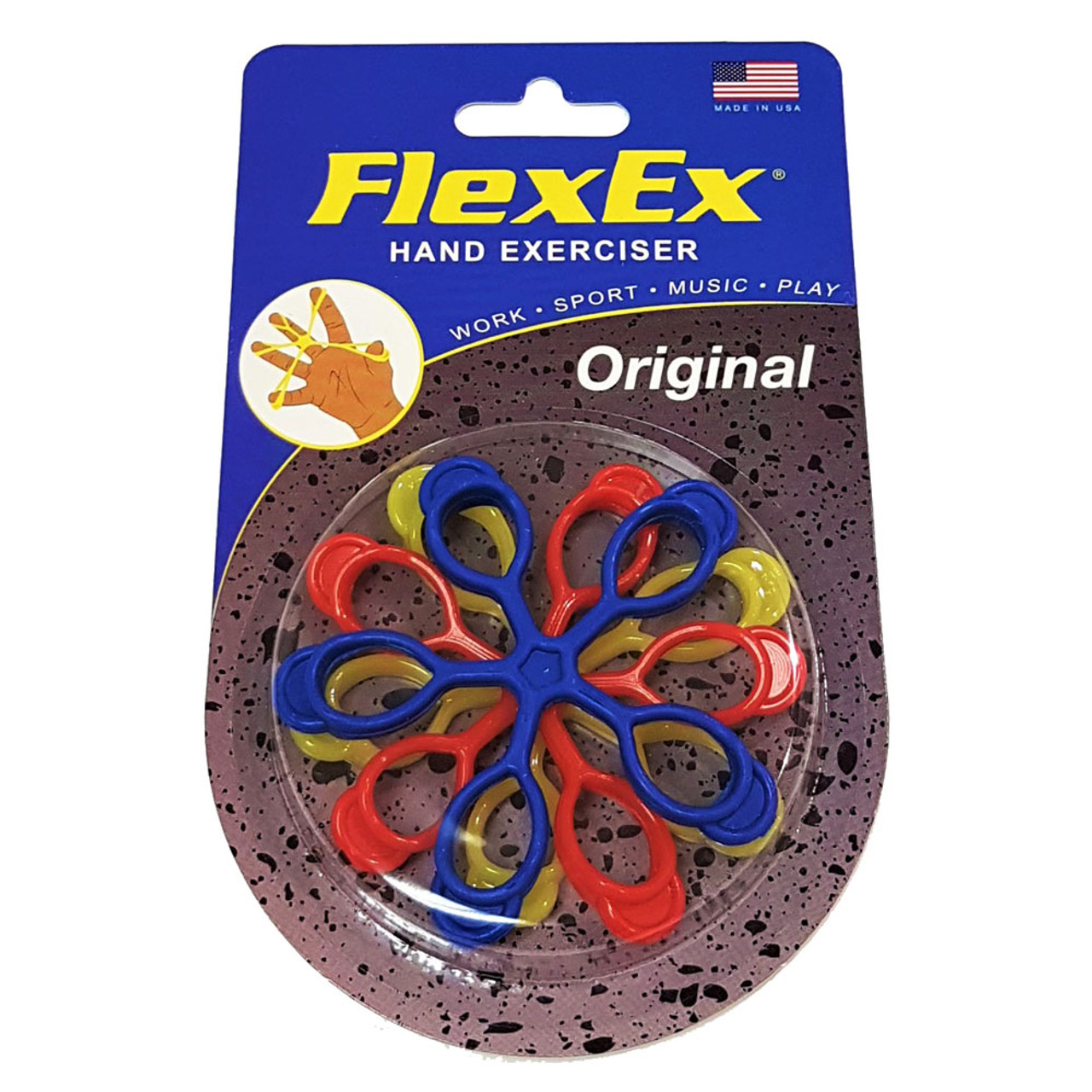Grip Strengthener and Hand Exerciser FlexEx® Made In USA Sport Triple Pack