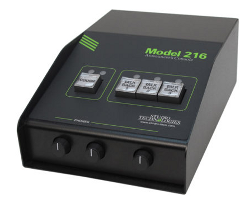 Model 216 Dante Announcer Console