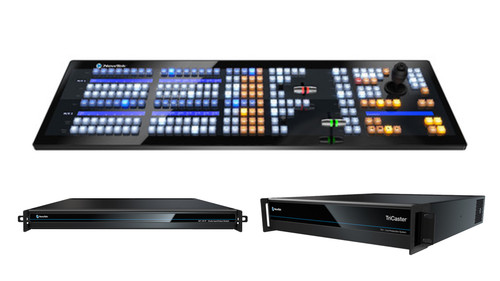 TriCaster TC1 DELUXE Bundle (TriCaster TC1 2RU, NC1 I/O,  and 2 Stripe Control Panel))