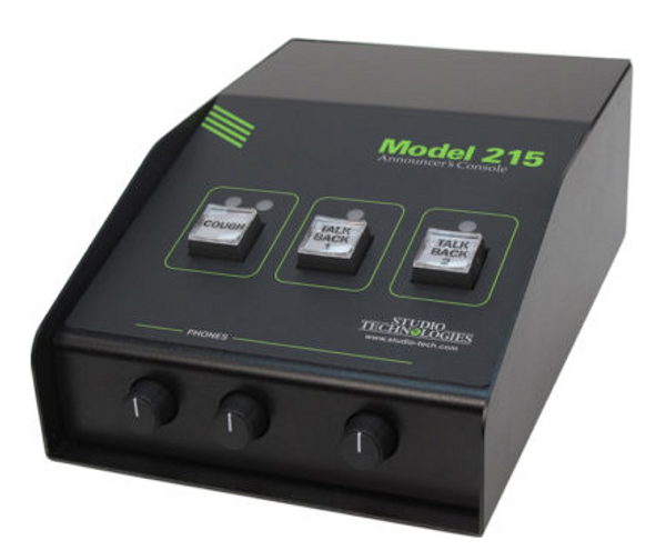 Model 215 Dante Announcer Console