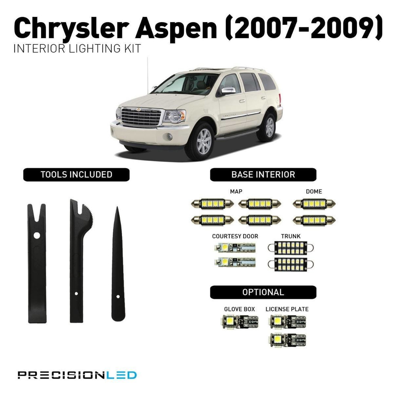 Chrysler Aspen LED Interior Package (2007-2009)