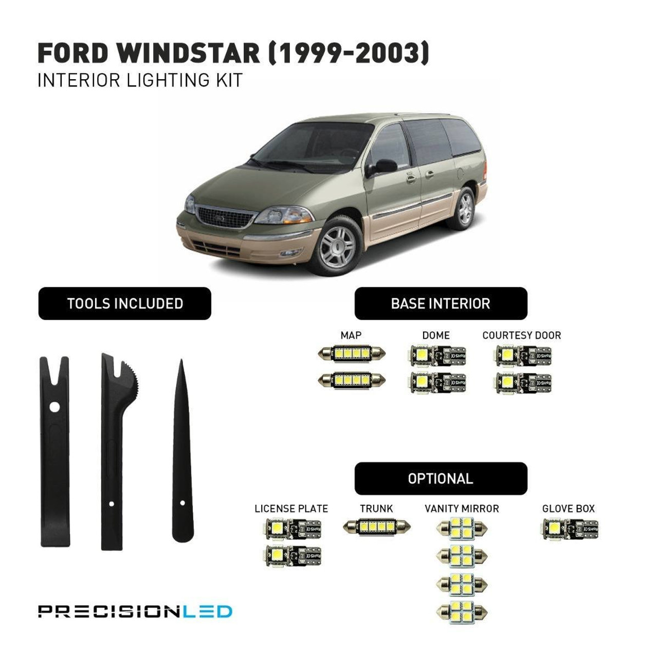 Ford Windstar LED Interior Package (1999-2003)