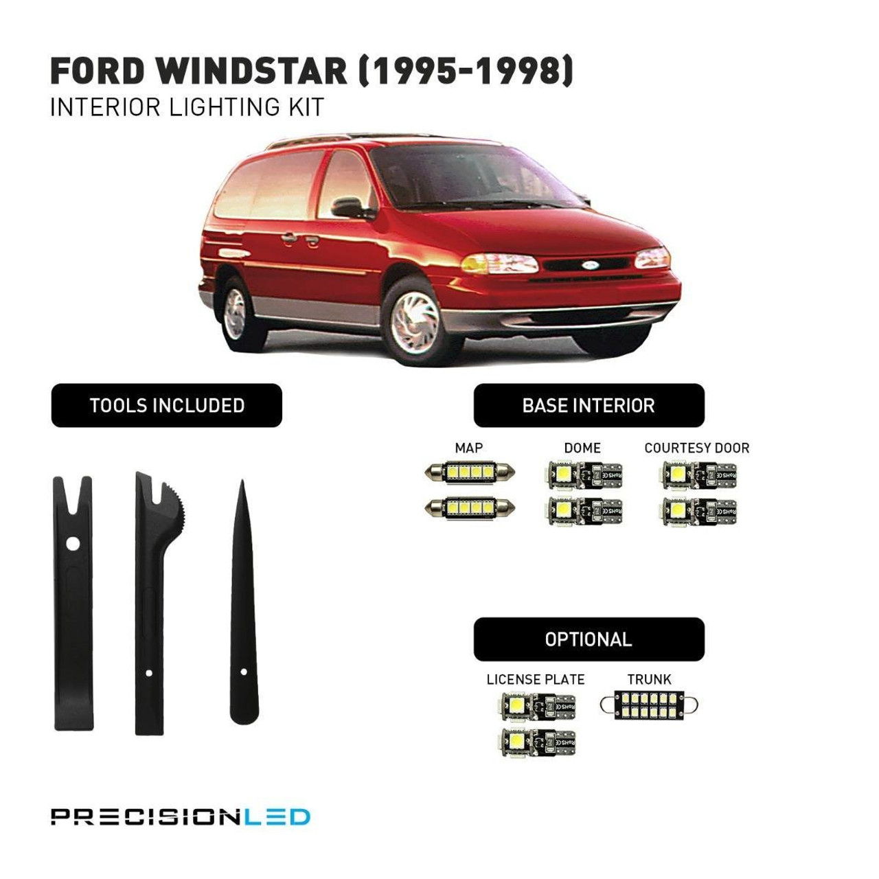 Ford Windstar LED Interior Package (1995-1998)