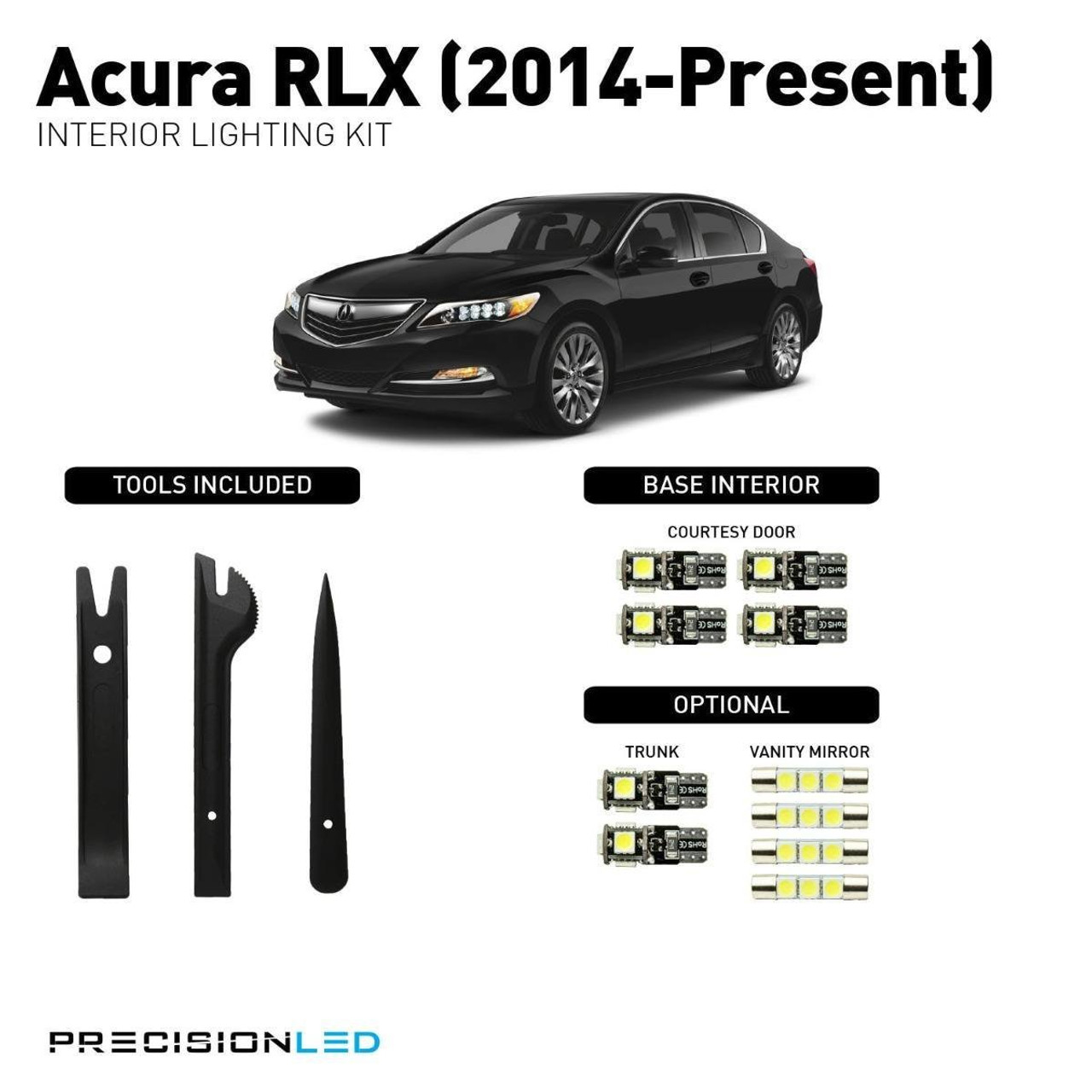 Acura RLX LED Interior Package (2014-Present)