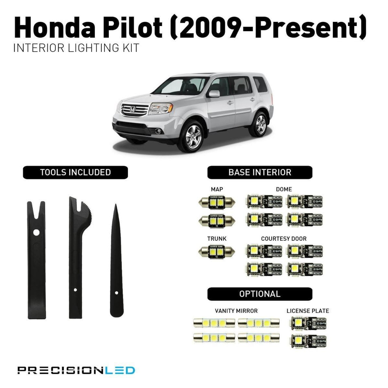 Honda Pilot LED Interior Package (2009-Present)