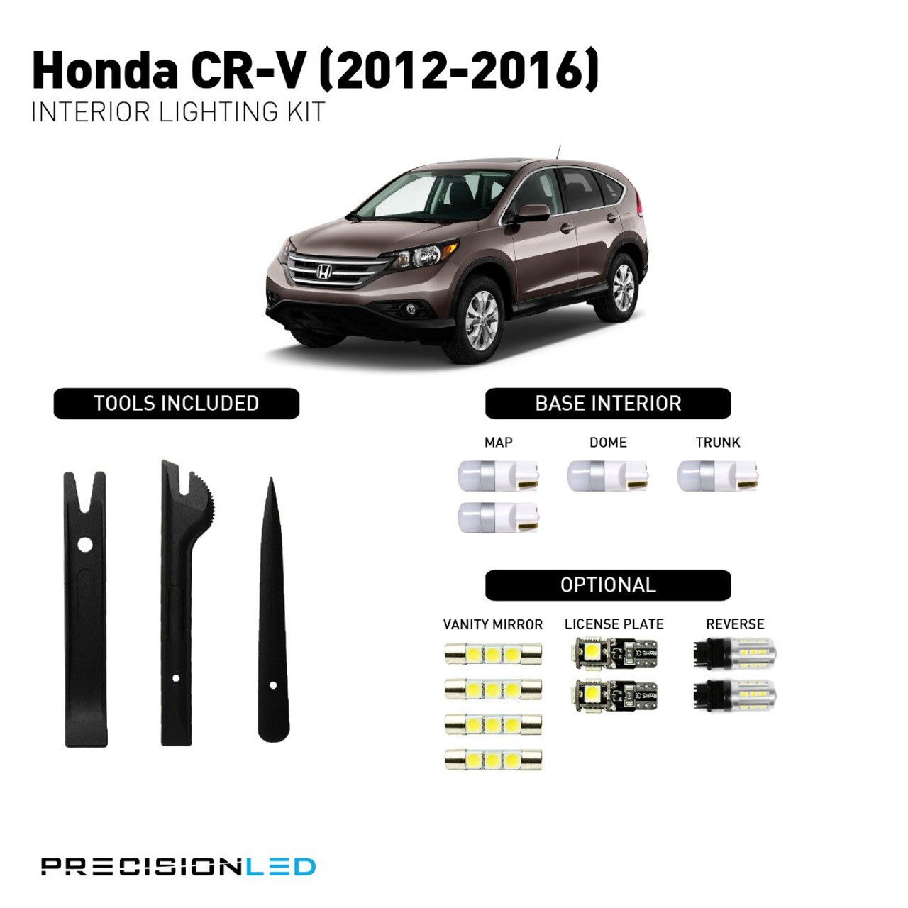 Honda CR-V Premium LED Interior Package (2012-Present)